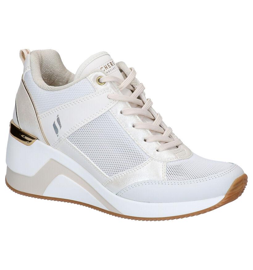 Skechers Street Witte Sneakers in kunstleer (272789)