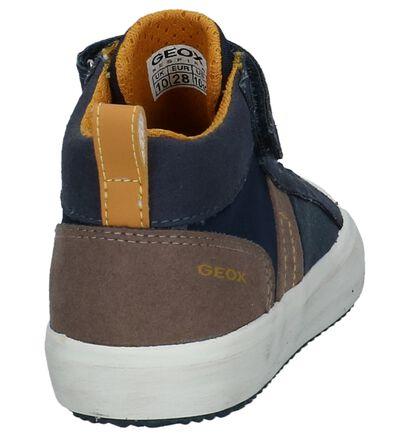 Geox Donker Blauwe Hoge Sneakers, Blauw, pdp