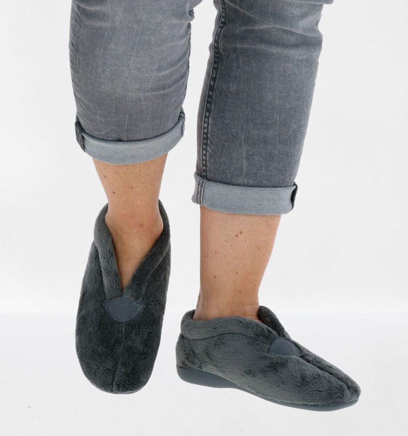 Via Limone Grijze Pantoffels in stof (278657)