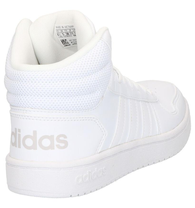 adidas Hoops Baskets en Blanc en simili cuir (284806)