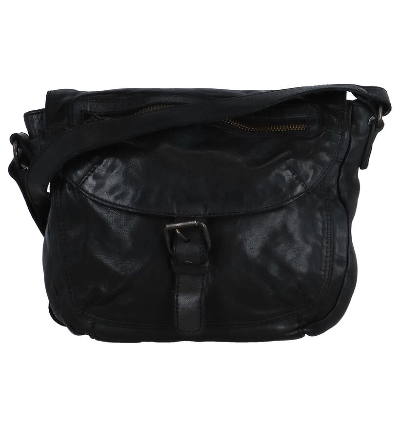 Bear Design Zwarte Crossbody Tas in leer (284273)