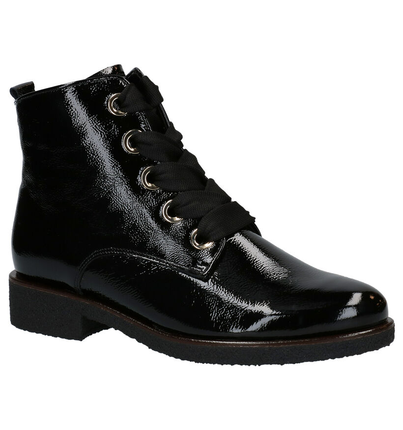 Gabor Zwarte Bottines in leer (284001)