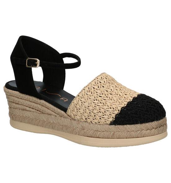 Unisa Cancio Zwarte Sandalen