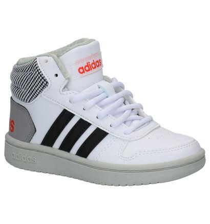 Adidas Hoops Zwarte Sneakers in kunstleer (262061)