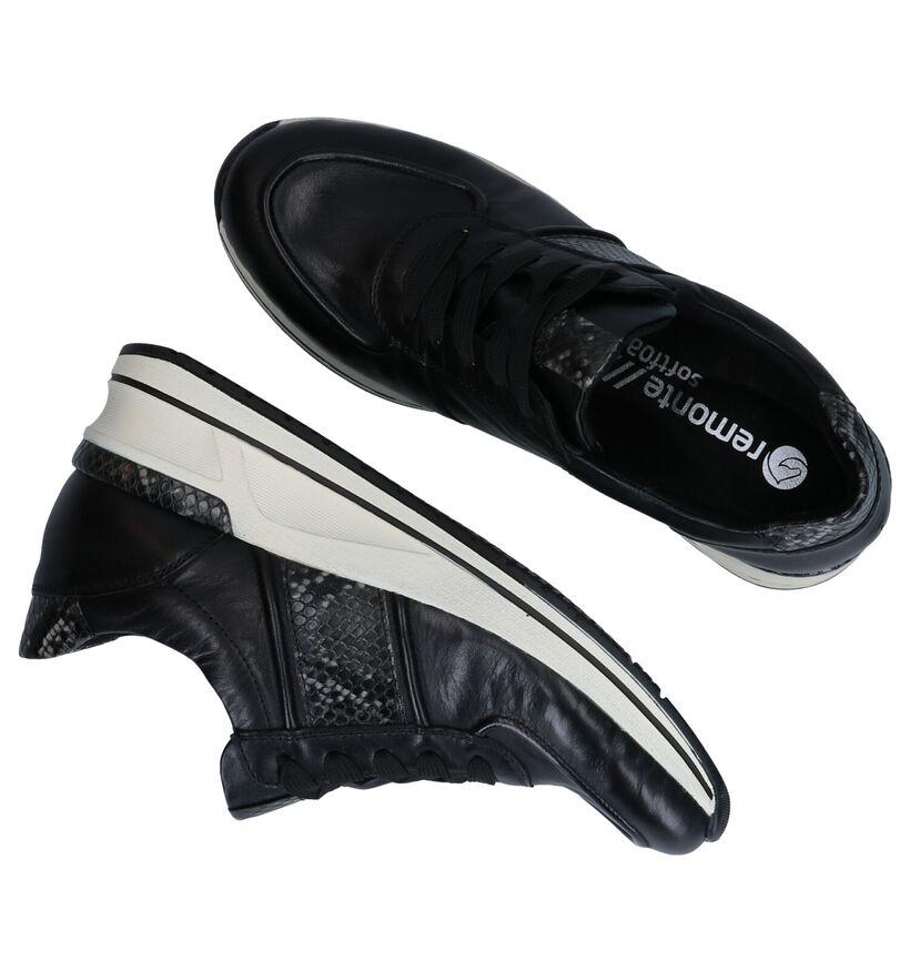 Remonte Chaussures à lacets en Noir en cuir (277640)