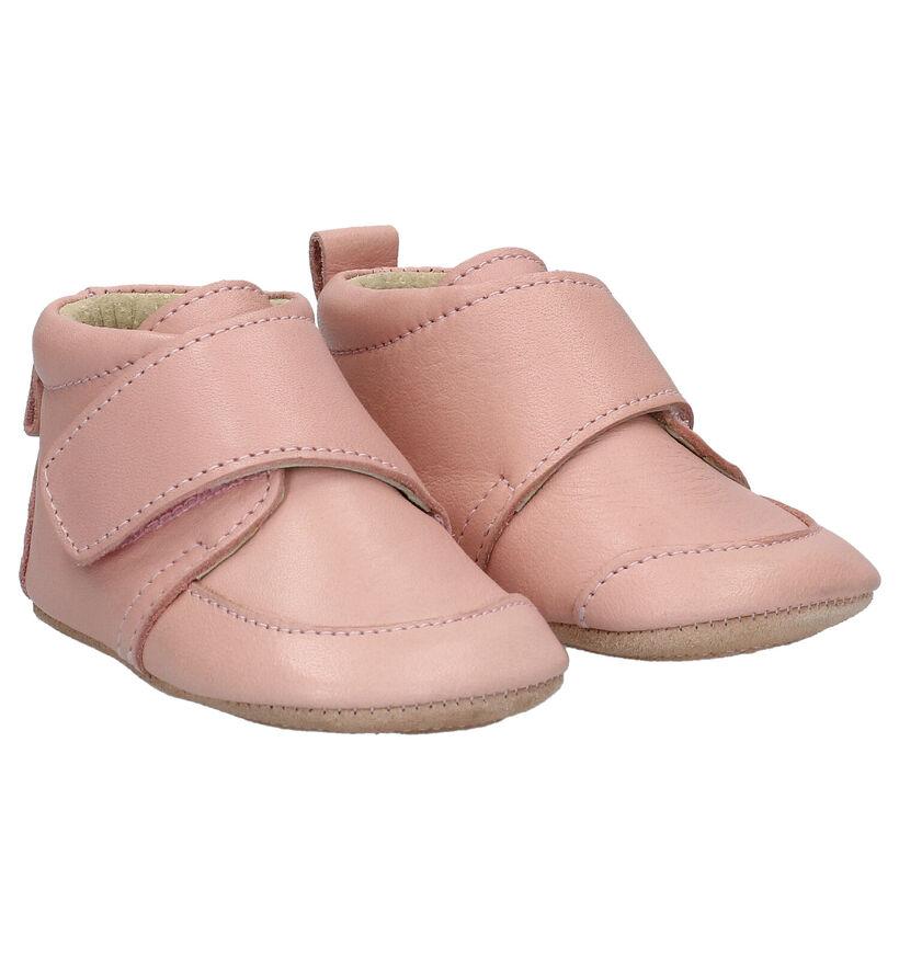 Enfant Chaussons pour bébé en Rose en cuir (282806)
