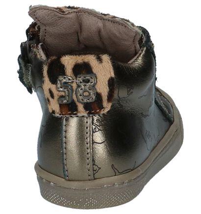 STONES and BONES Chaussures hautes en Or en cuir (223374)