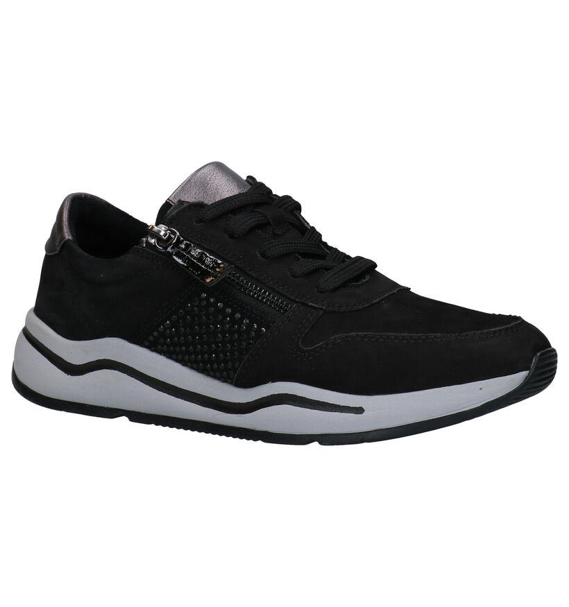 Jana Chaussures à lacets en Noir en daim (280902)