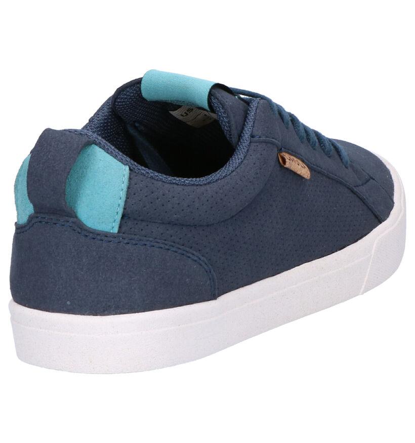 Saola Chaussures à lacets en Bleu foncé en textile (254140)