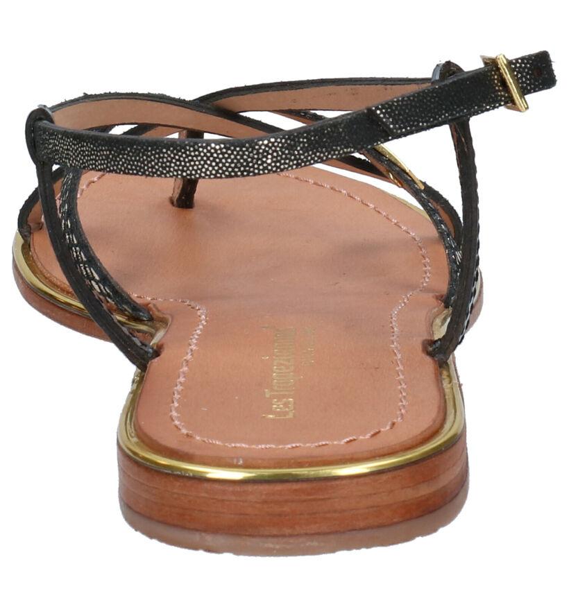 Les Tropeziennes Monaco Zwarte Sandalen in leer (274925)