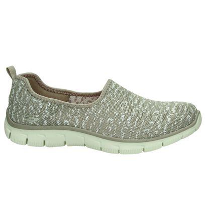 Blauwe Slip-On Sneakers Skechers, Beige, pdp