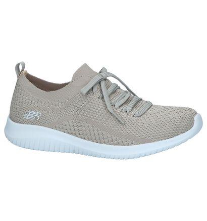 Lichtgrijze Slip-on Sneakers Skechers Ultra Flex Statements, Beige, pdp