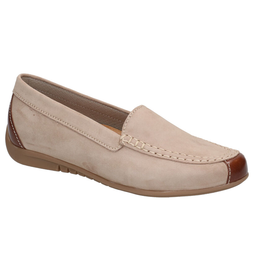 Gabor Best Fitting Taupe Mocassins in leer (271501)