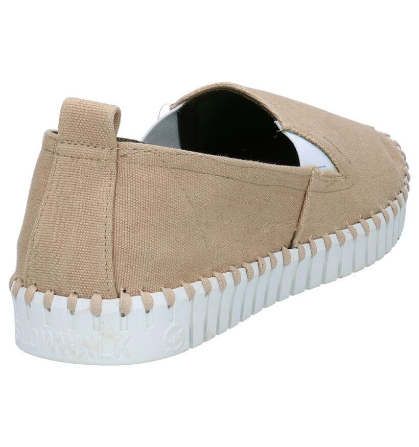 Slowwalk Bones Chaussures Slip-on en Beige en textile (270941)