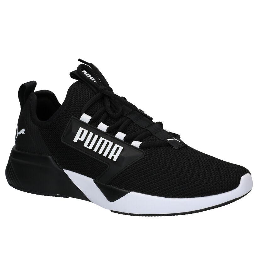 Puma Retaliate Baskets en Noir en textile (288557)