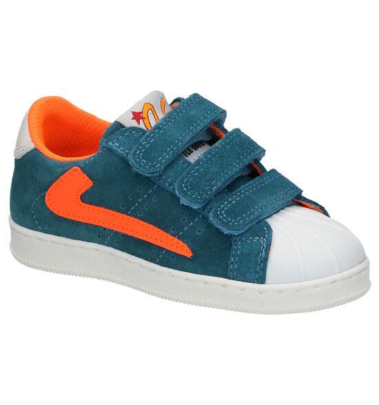 Little David Parker Chaussures à Velcro en Bleu