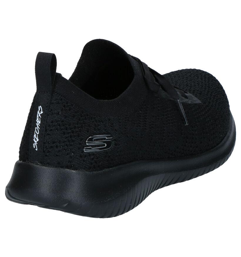 Skechers Memory Foam Baskets slip-on en Noir en textile (272771)