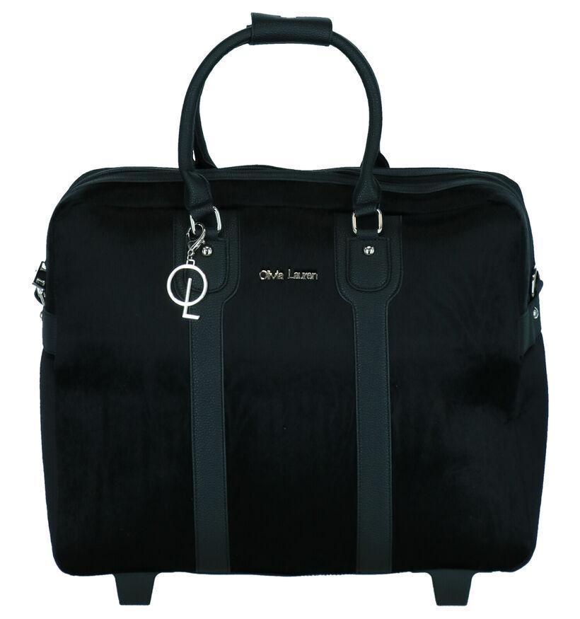 Olivia Lauren Wild Sac à roulettes en Noir en simili cuir (284325)