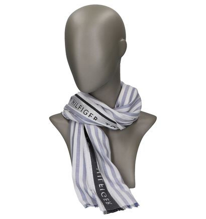 Blauwe Sjaal Tommy Hilfiger Selvedge Scarf, Blauw, pdp