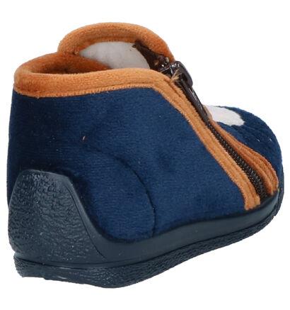 Bellamy Kouak Blauwe Pantoffels in stof (262439)