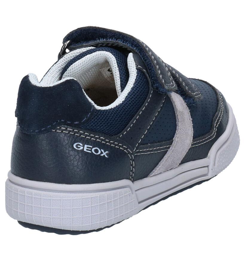 Geox Blauwe Velcroschoenen in kunstleer (265782)