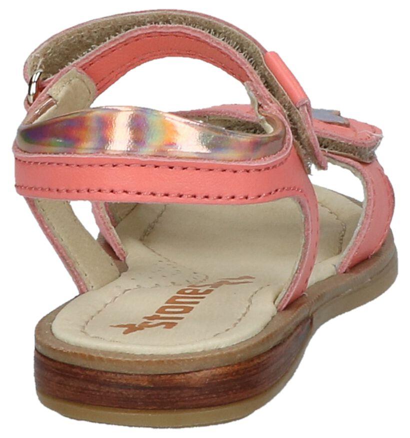 Roze Sandalen STONES and BONES Lisca met Vlinder in leer (213129)
