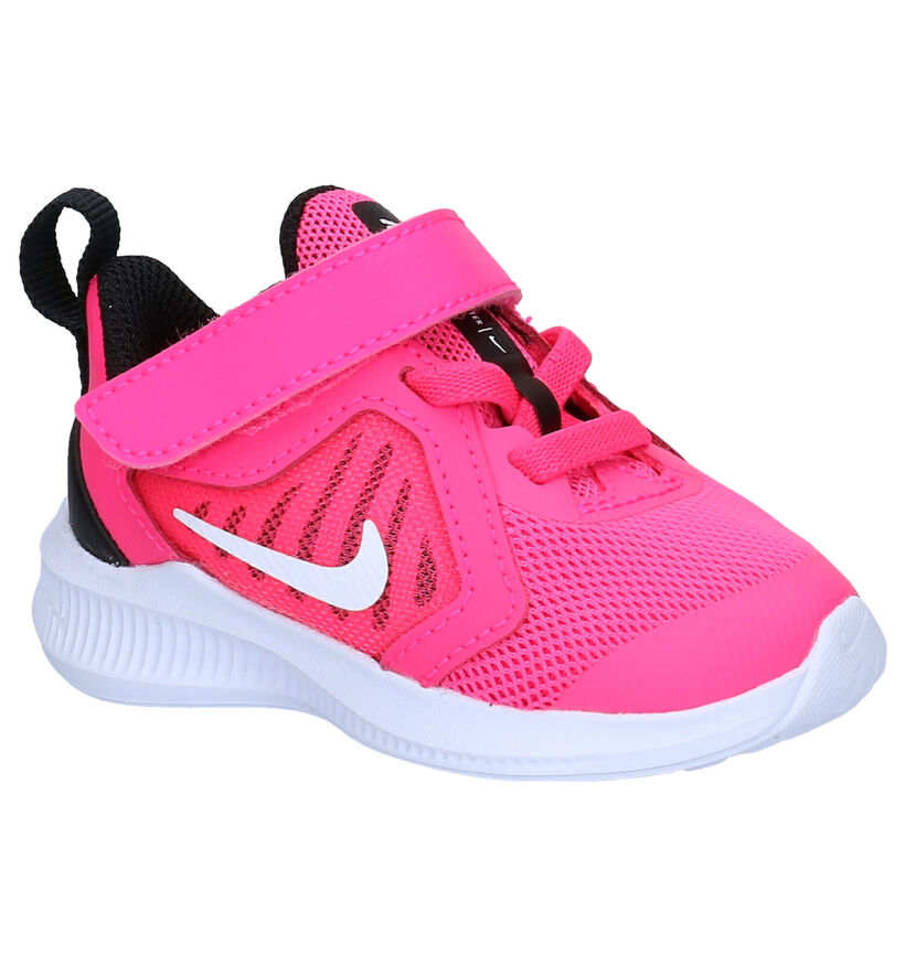 Nike Downshifter Roze Babysneakers in stof (277537)