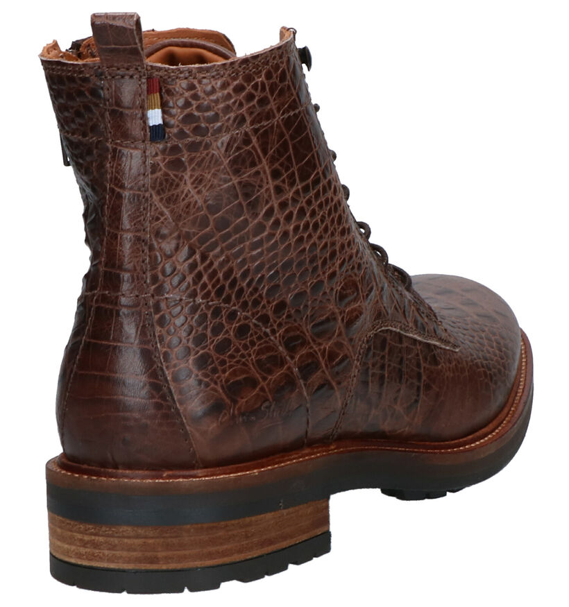 Olivier Strelli Wonkers Bruine Boots in leer (261413)