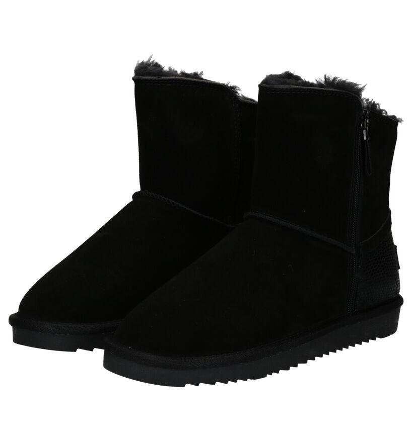 Esprit Zwarte Boots in daim (279820)