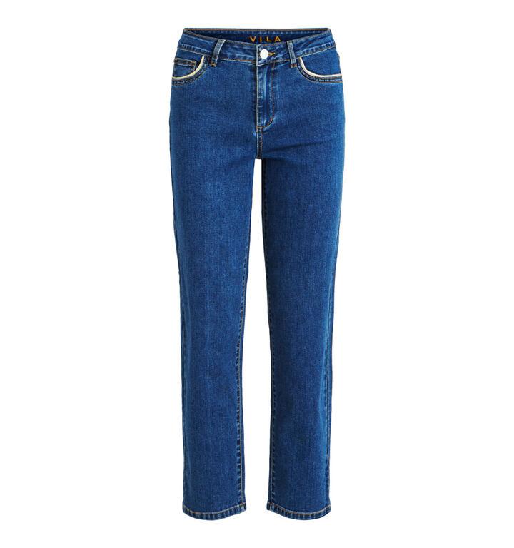 Vila Jeans Straight Leg en Bleu