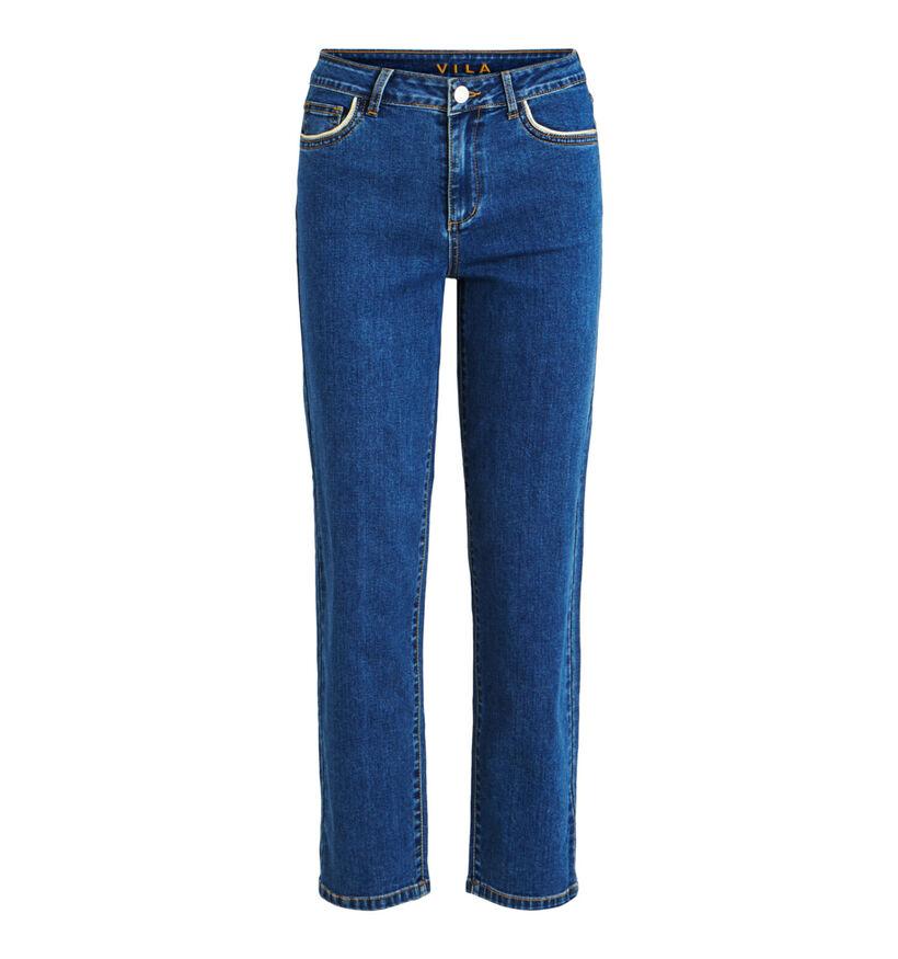 Vila Jeans Straight Leg en Bleu (283549)