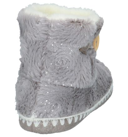 Dazzle Pantoufles fermées en Gris clair en textile (201097)