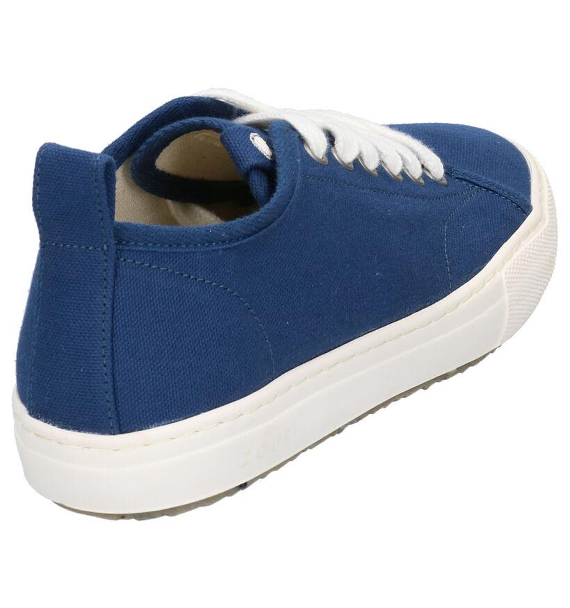 ZOURI Bloom Blauwe Sneakers in stof (275066)