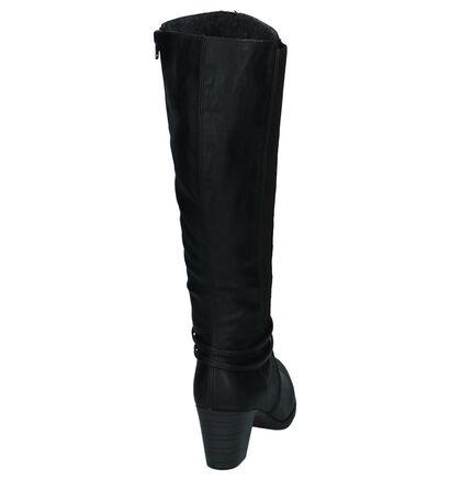 Rieker Zwarte Lange Laarzen met Blokhak in kunstleer (232025)