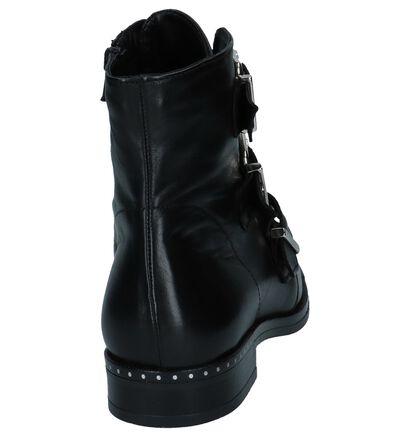 Zwarte Stoere Boots met Gesp/Rits Via Limone in leer (226208)