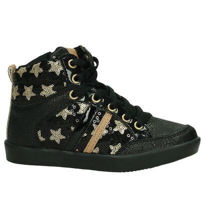 Zwarte K3 Hoge Schoenen met Glitters en Sterren, Zwart, pdp