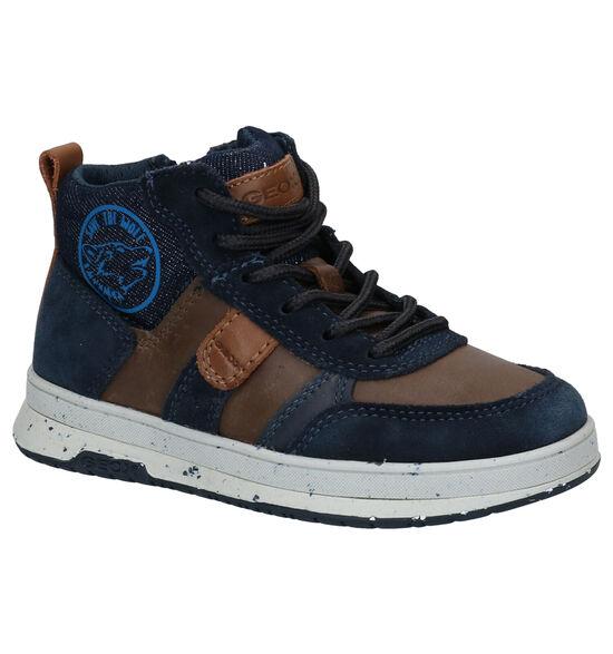 Geox Astuto Blauwe Hoge Schoenen