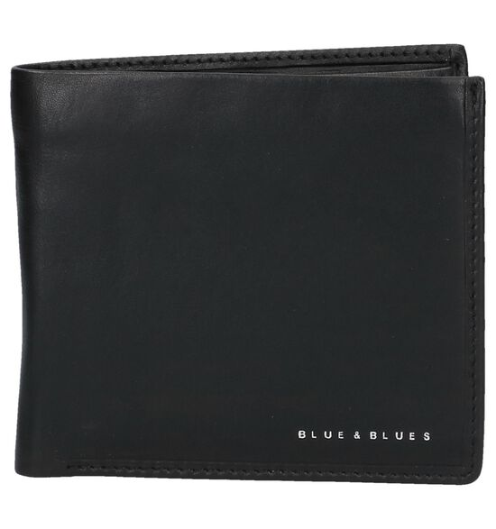 Zwarte Portefeuille Euro-Leather