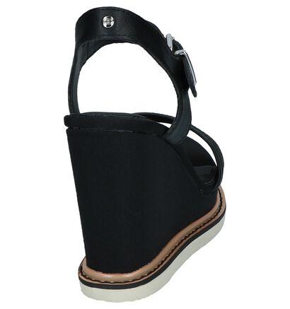 Zwarte Sandalen Tommy Hilfiger Iridescent Detail , Zwart, pdp