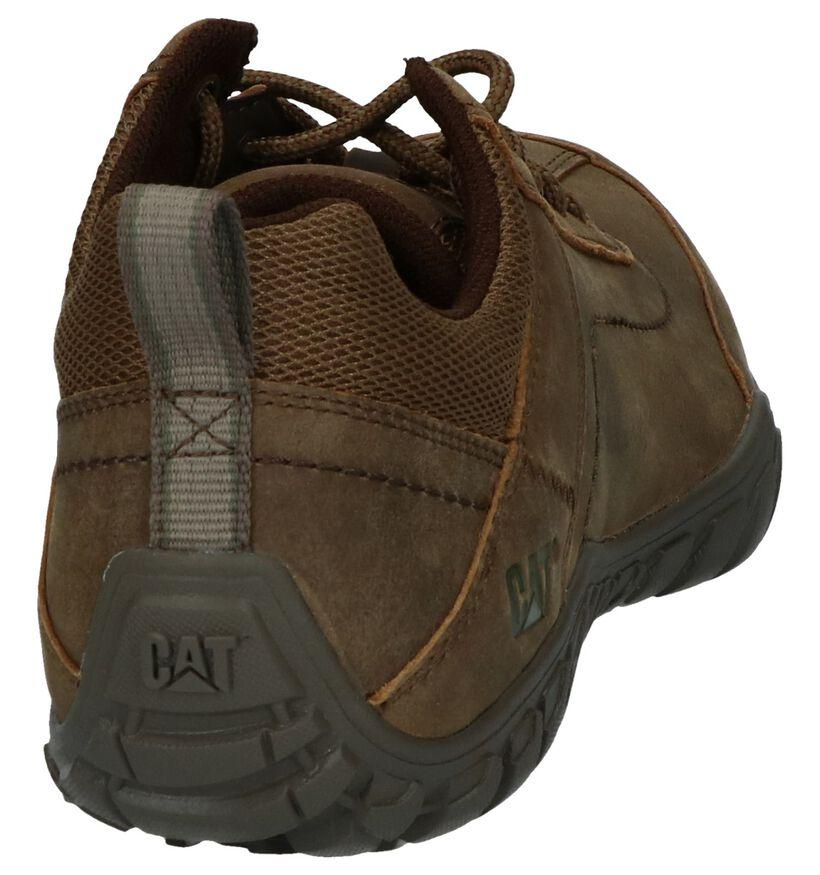 Caterpillar Chaussures basses en Brun foncé en cuir (238284)