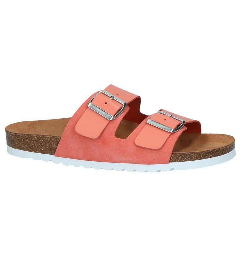 Vero Moda Nu-pieds plates en Pastel en cuir (241099)