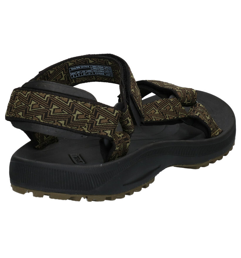 Teva Winsted Kaki Sandalen in stof (289144)