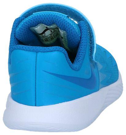 Nike Star Runner Baskets basses en Bleu foncé en simili cuir (209997)
