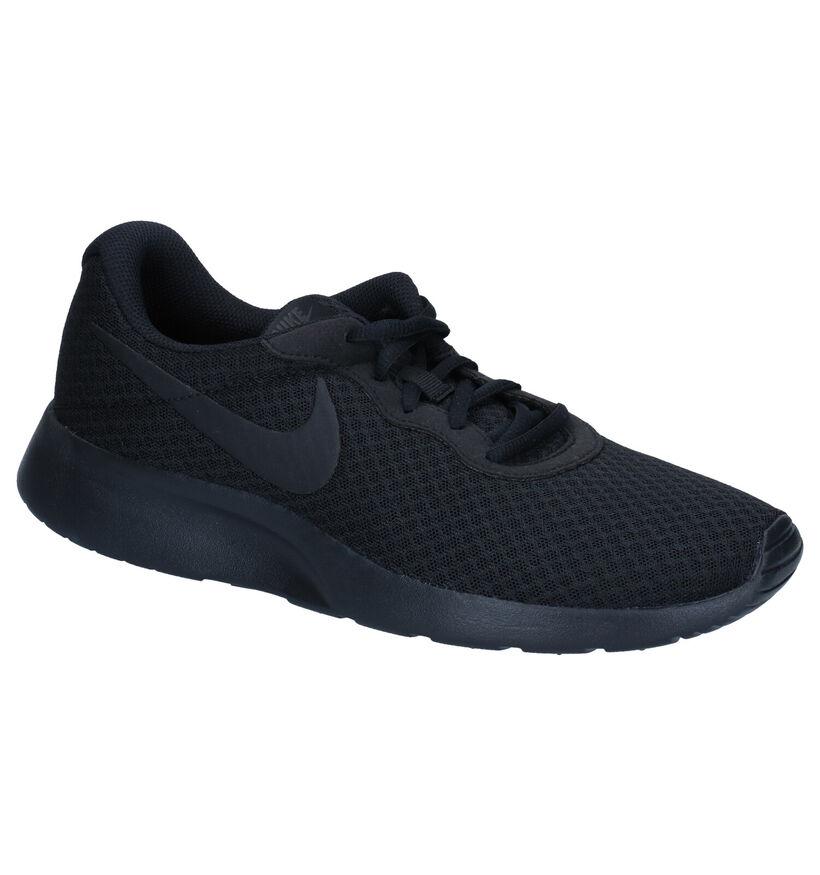 Nike Tanjun Zwarte Sneakers in stof (274953)