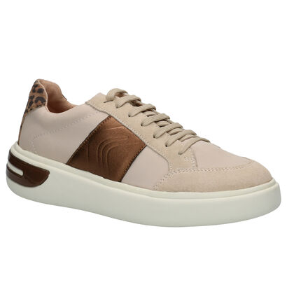 Geox Chaussures à lacets en Beige clair en daim (255266)