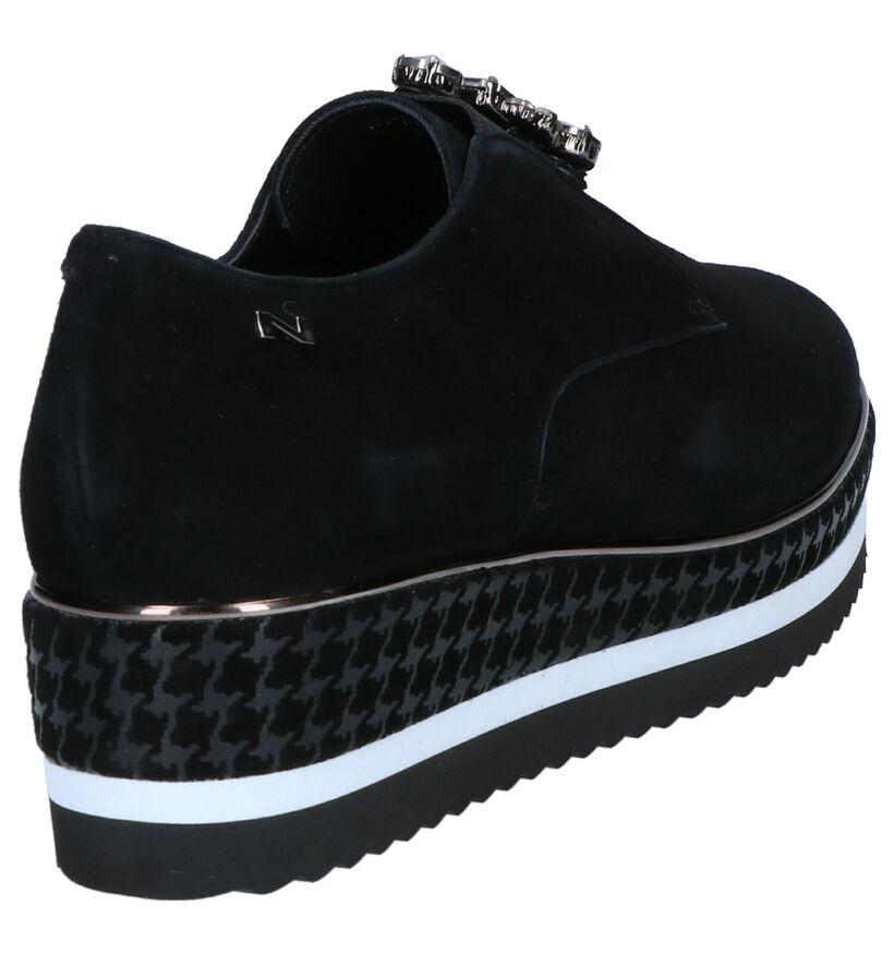 Nathan-Baume Chaussures slip-on en Noir en nubuck (262281)