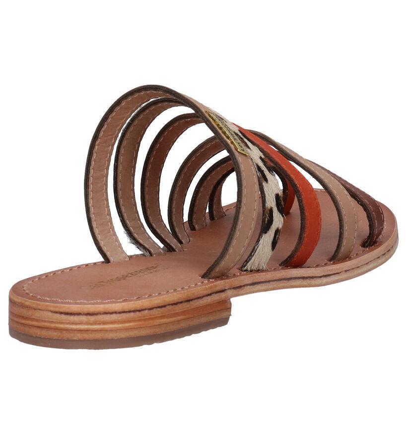 Les Tropeziennes Briquet Mules en Multicolore en cuir (275042)