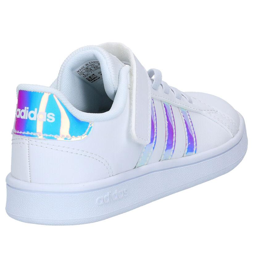 adidas Grand Court C Witte Sneakers in kunstleer (273517)