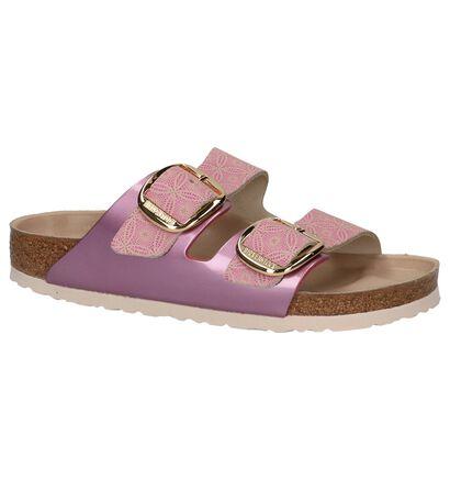 Roze Birkenstock Arizona Big Buckle Slippers, Roze, pdp