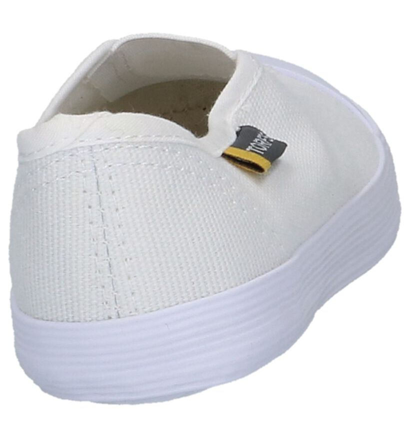 Torfs Pantoufles de gym en Blanc en textile (223315)